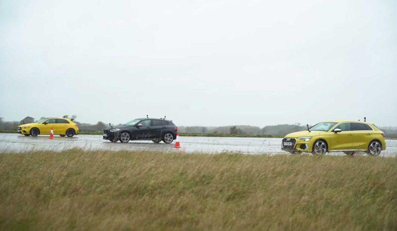 درگ ریس آئودی S3 با مرسدس AMG A35 و ب ام و M135i