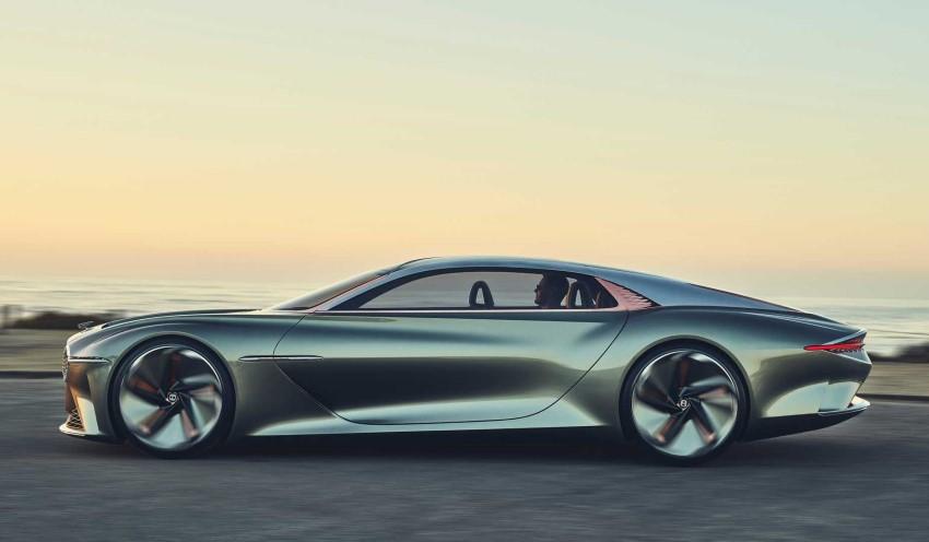 نمای جانبی بنتلی exp 100 GT