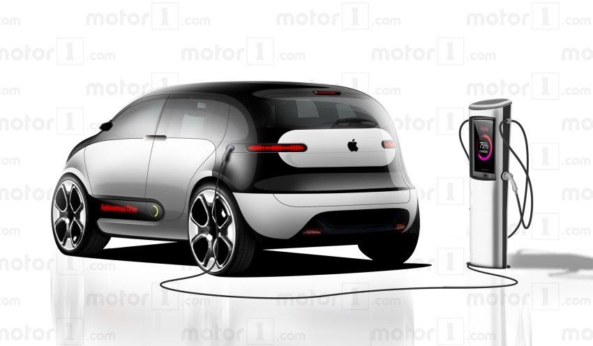نمای عقب خودروی خودران اپل