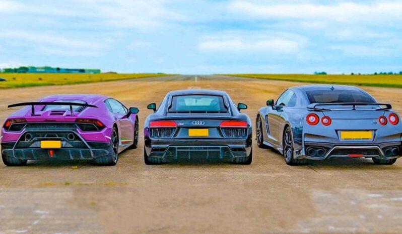 نیسان GT-R با لامبورگینی هوراکان و آئودی R8
