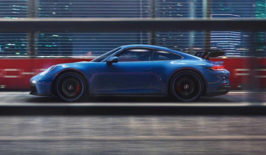 نمای جانبی پورشه 911 GT3 2022