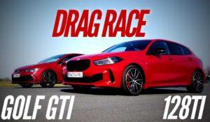 درگ ریس گلف GTI با ب ام و 128ti