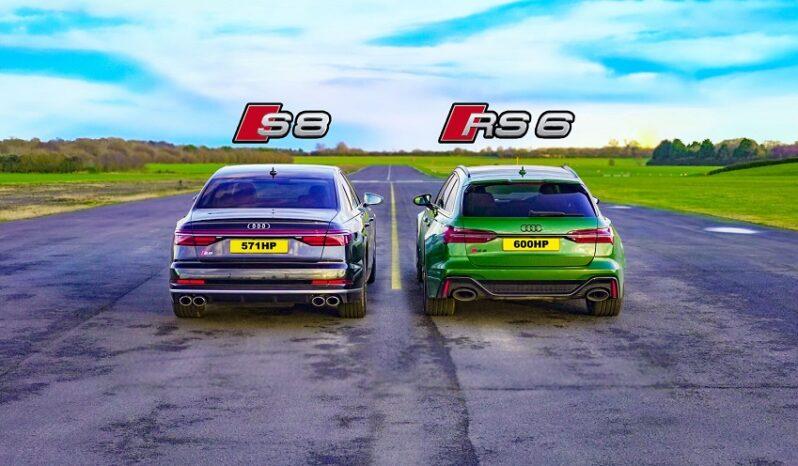 درگ ریس آئودی RS6 با سوپر سدان S8