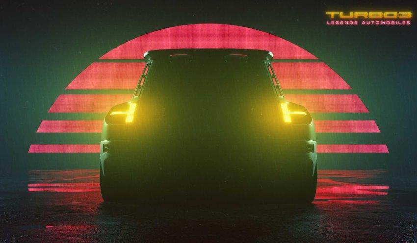نمای عقب رنو 5 توربو Legende Automobiles